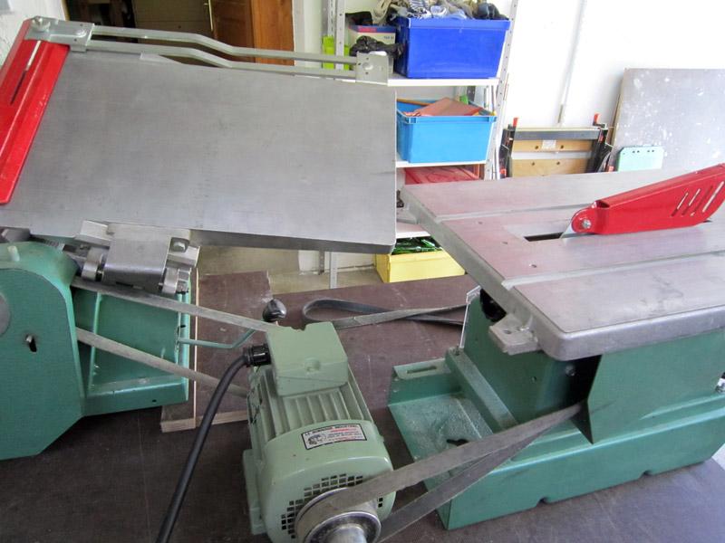 vieilles machines de menuisier
